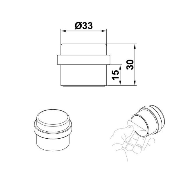 DOORSTOP D.30X30