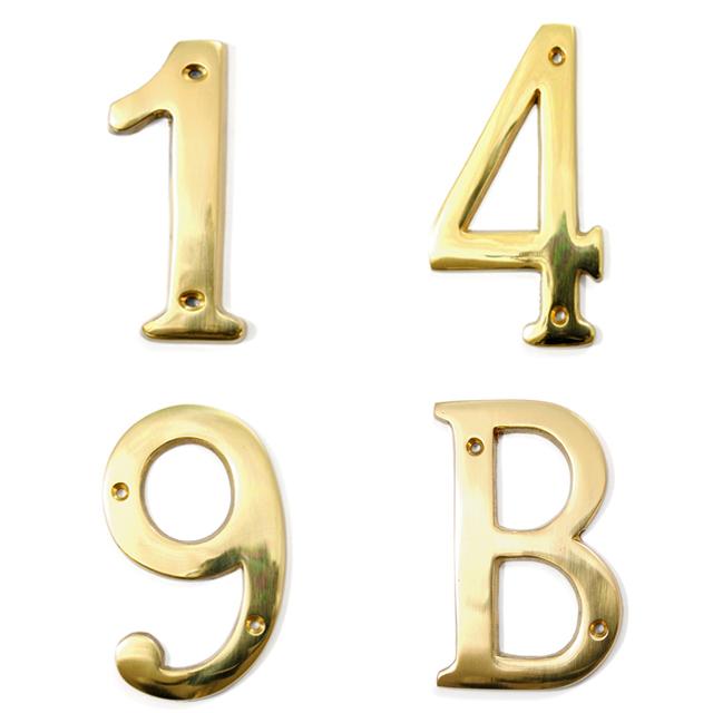 BRASS GOLDEN BUILDING NUMBERS