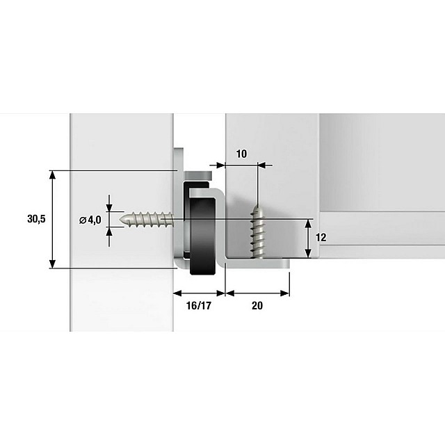 DRAWER SLIDERS WITH BEARING FOR 80KG / 50CM