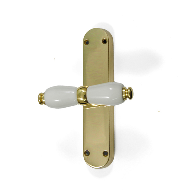 GOLD WINDOW HANDLE SONIA WITH WHITE PORCELAIN