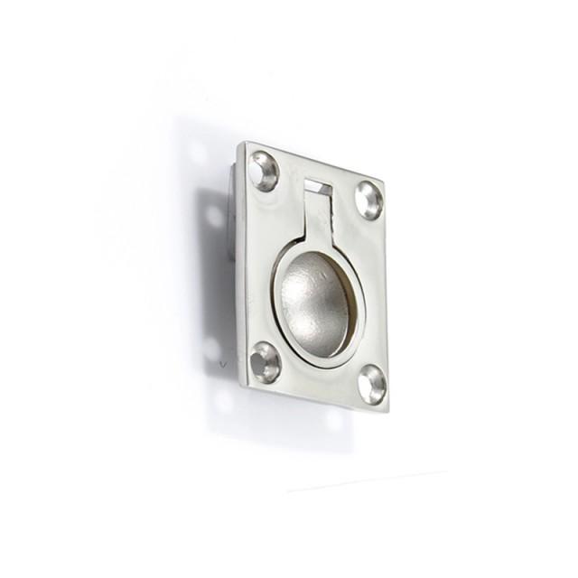 RECESSED STAINLESS STEEL RING PULL FOR HIDDEN DOOR