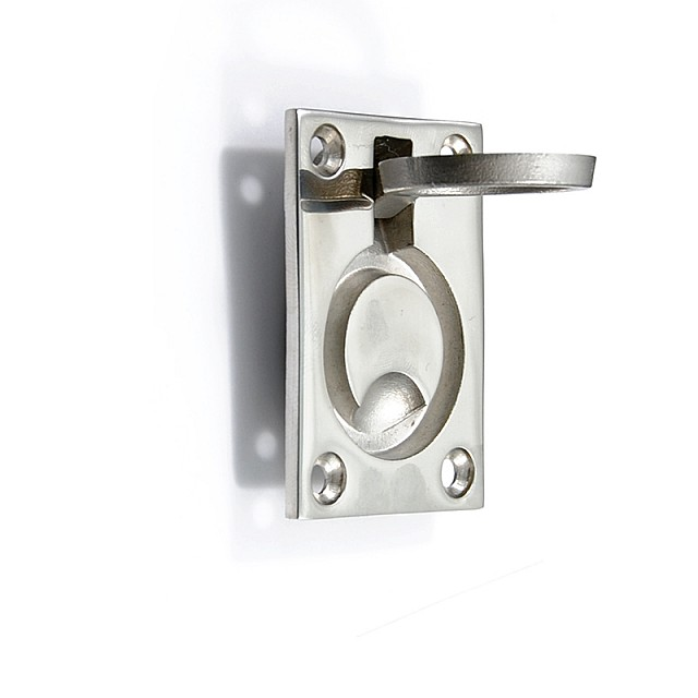 LARGE RECESSED STAINLESS STEEL RING PULL FOR HIDDEN DOOR