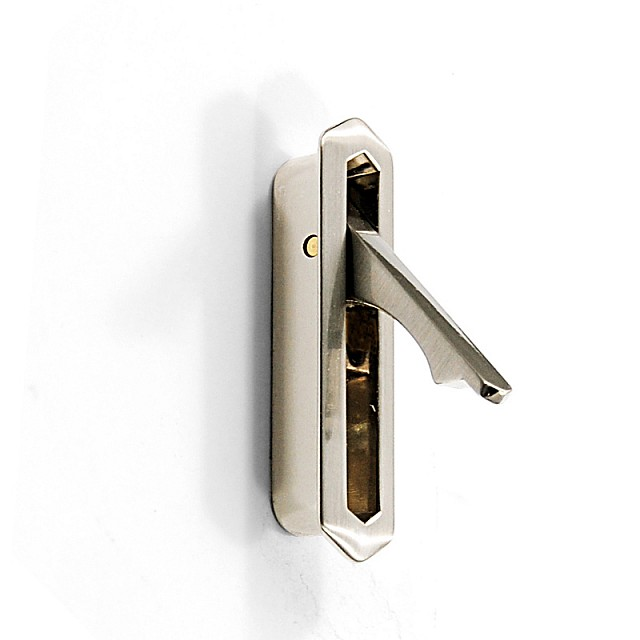INSET MAT NICKEL KNOB MA10 SLIDING DOOR