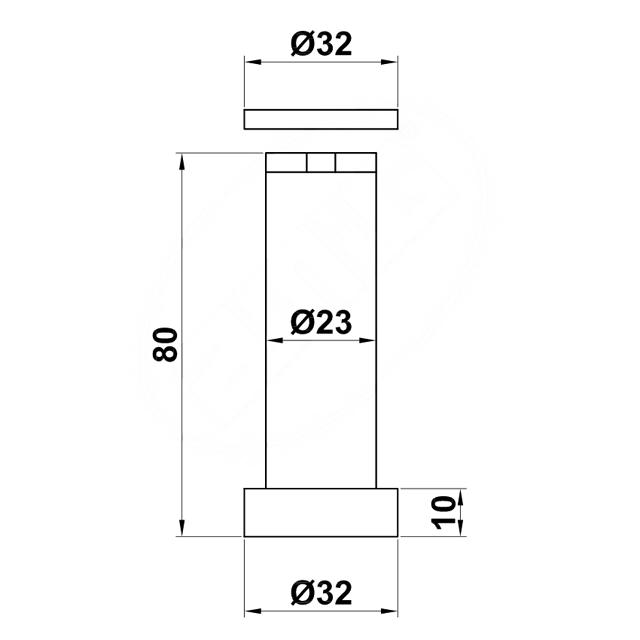 MAT NICKEL MAGNETIC DOOR RETAINER WALL