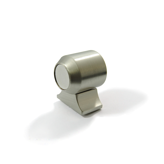 MAT NICKEL MAGNETIC DOOR RETAINER FLOOR ROUND