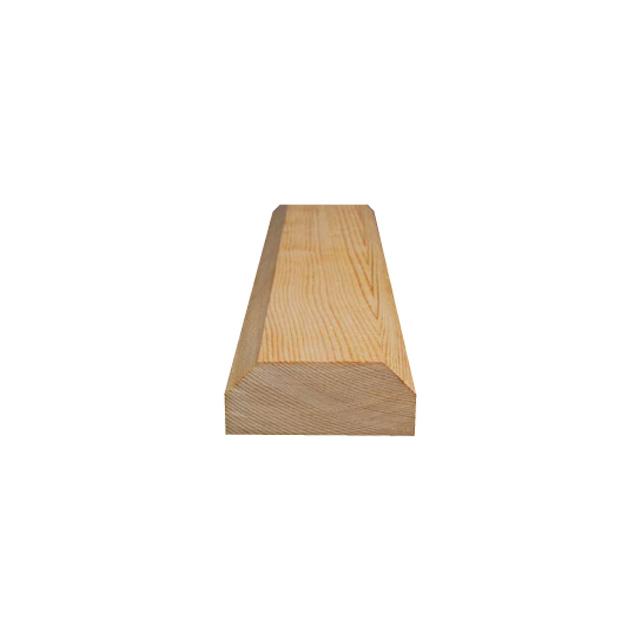 PINE STAIRCASE HANDRAIL / 2.8x7cm