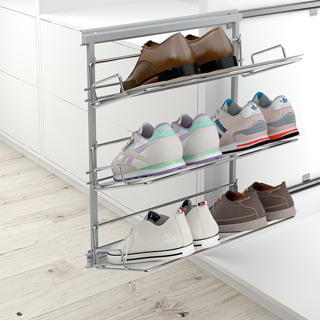 SLIDING SHOE HOLDER WITH 3 AND 5 BASKETS