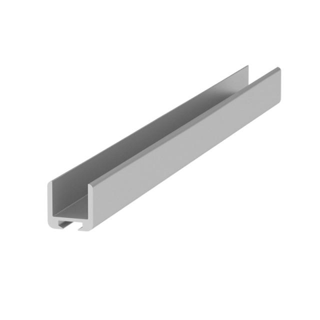 U-SHAPE ALUMINUM PROFILE 14x14 FOR 10mm GLASS