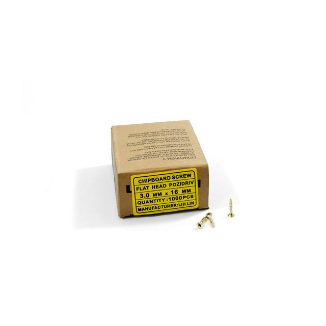 WOOD SCREWS LIH LIN 3,0x16 PZ1 GOLD