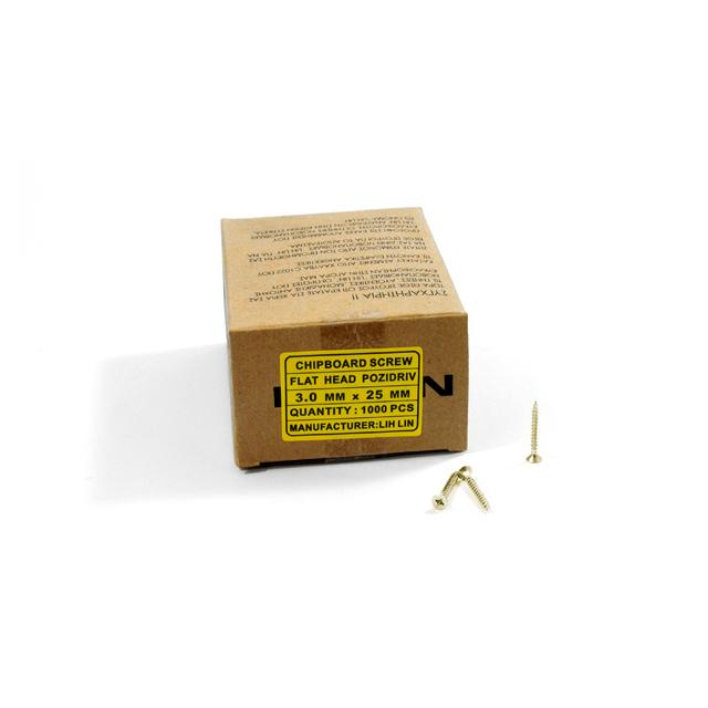 WOOD SCREWS LIH LIN 3,0x25 PZ1 GOLD