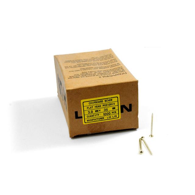 WOOD SCREWS LIH LIN 3,0x35 PZ1 GOLD