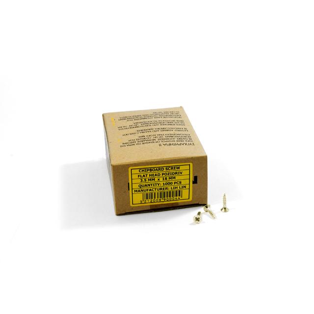 WOOD SCREWS LIH LIN 3,5x16 PZ2 GOLD