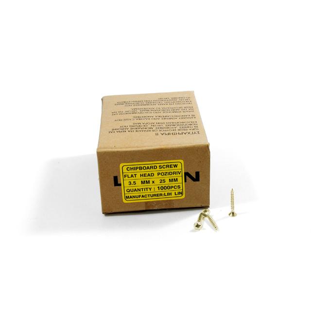 WOOD SCREWS LIH LIN 3,5x25 PZ2 GOLD