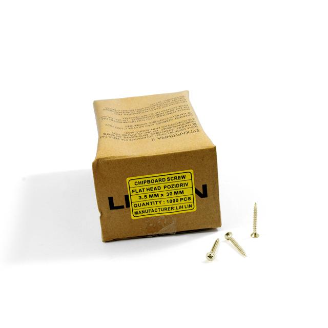 WOOD SCREWS LIH LIN 3,5x30 PZ2 GOLD