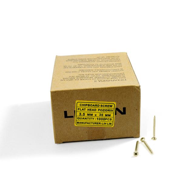 WOOD SCREWS LIH LIN 3,5x35 PZ2 GOLD