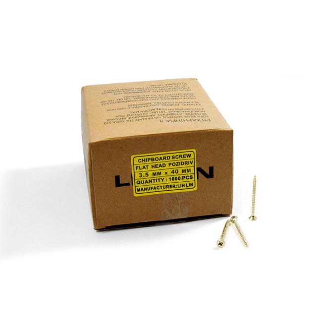 WOOD SCREWS LIH LIN 3,5x40 PZ2 GOLD