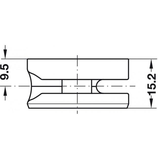 CONNECTOR HOUSING D.35x15mm