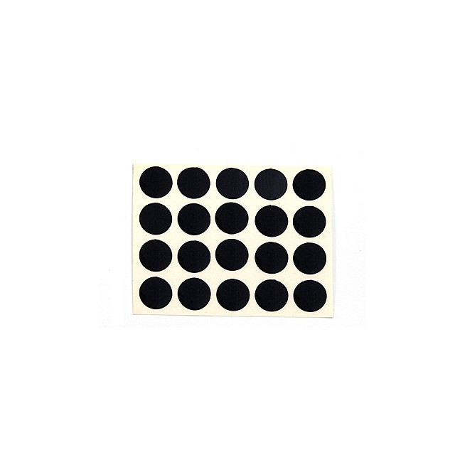 ADHESIVE HOLE COVER D.13 BLACK 657