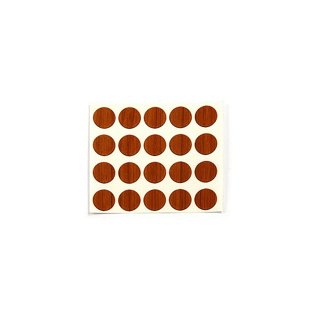 ADHESIVE HOLE COVER D.13 WALNUT 6045