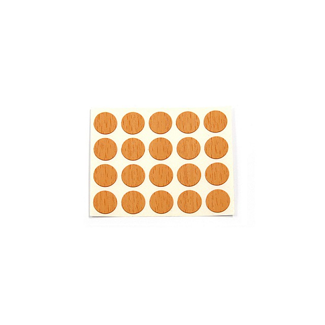 ADHESIVE HOLE COVER D.13 WALNUT 6077