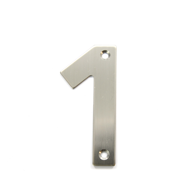 STAINLESS STEEL HOUSE NUMBER / 1