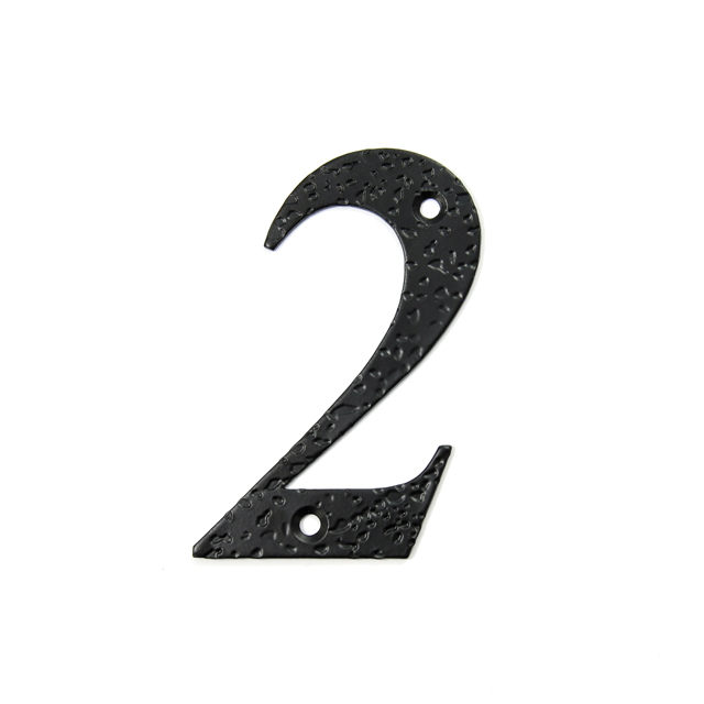 STEEL HOUSE NUMBER / BLACK / 2