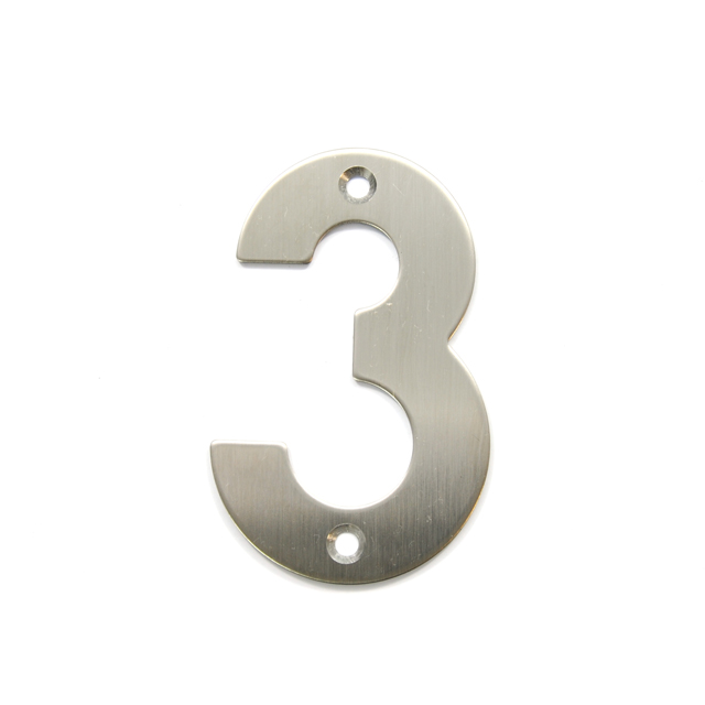 STAINLESS STEEL HOUSE NUMBER / 3