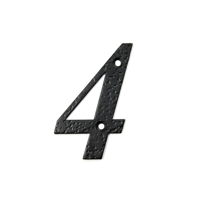 STEEL HOUSE NUMBER / BLACK / 4