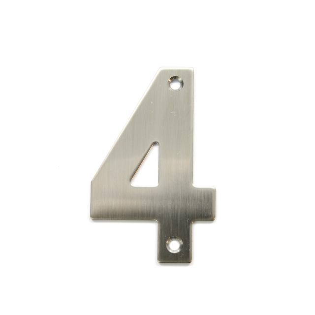 STAINLESS STEEL HOUSE NUMBER / 4