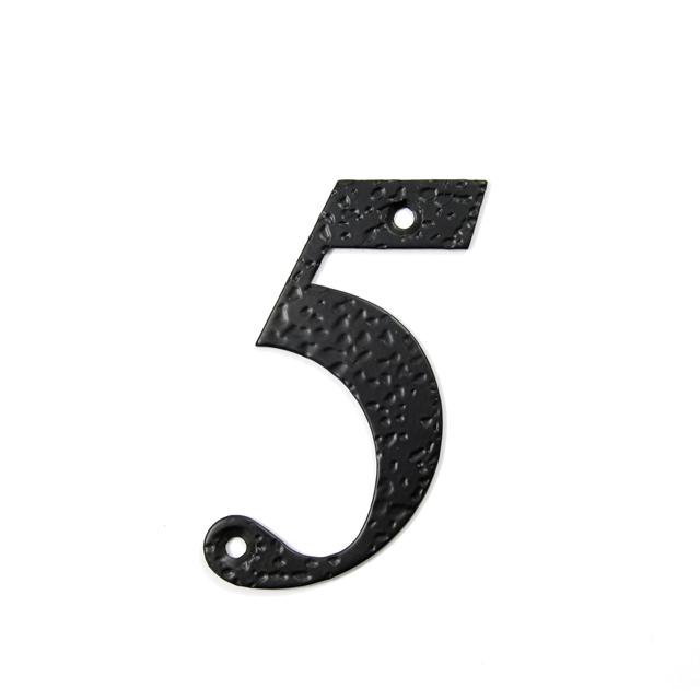 STEEL HOUSE NUMBER / BLACK / 5