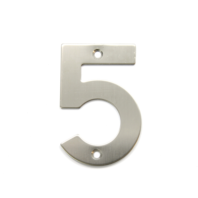 STAINLESS STEEL HOUSE NUMBER / 5