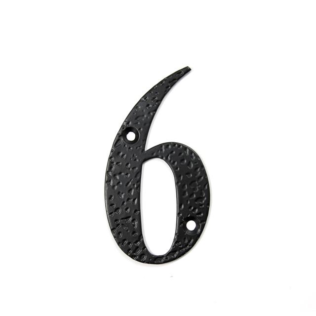 STEEL HOUSE NUMBER / BLACK / 6