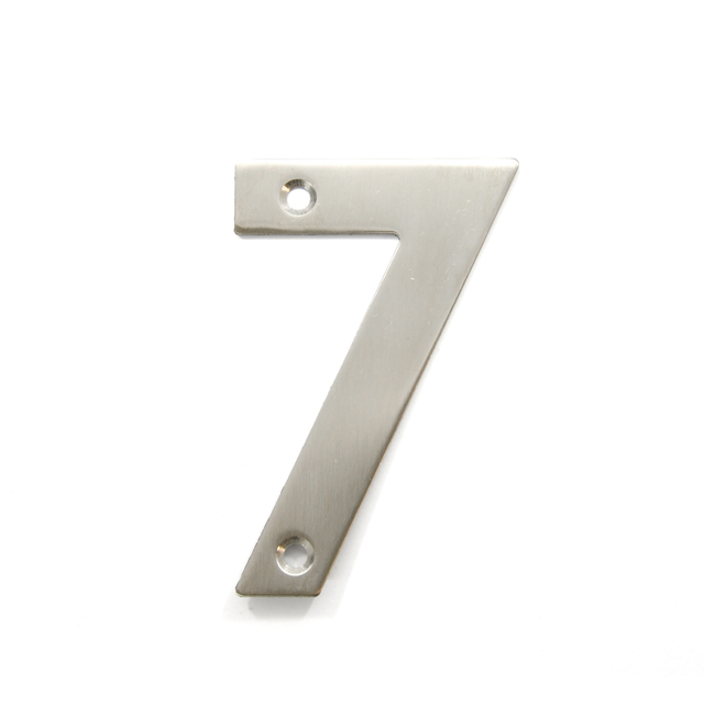 STAINLESS STEEL HOUSE NUMBER / 7