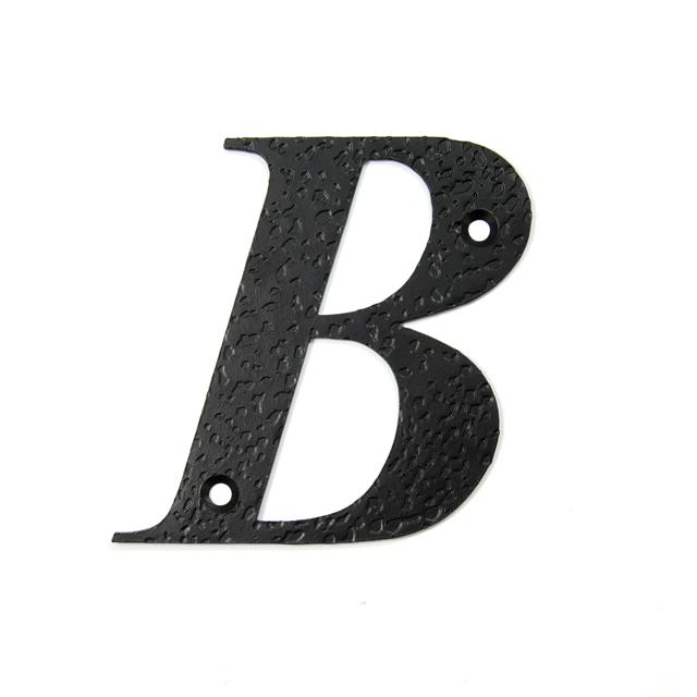 STEEL HOUSE LETTER / BLACK / B