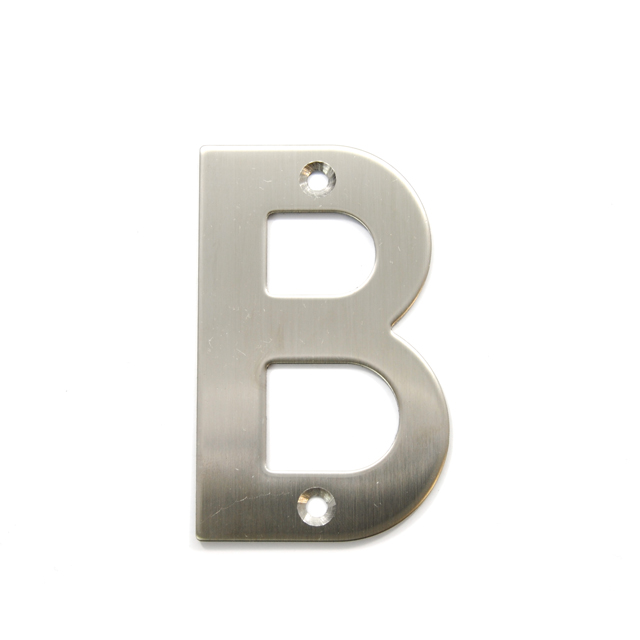 STAINLESS STEEL HOUSE NUMBER / LETTER B