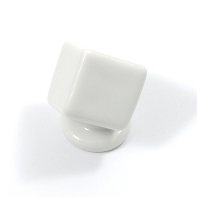 L003 WHITE FURNITURE KNOB LIMOGES