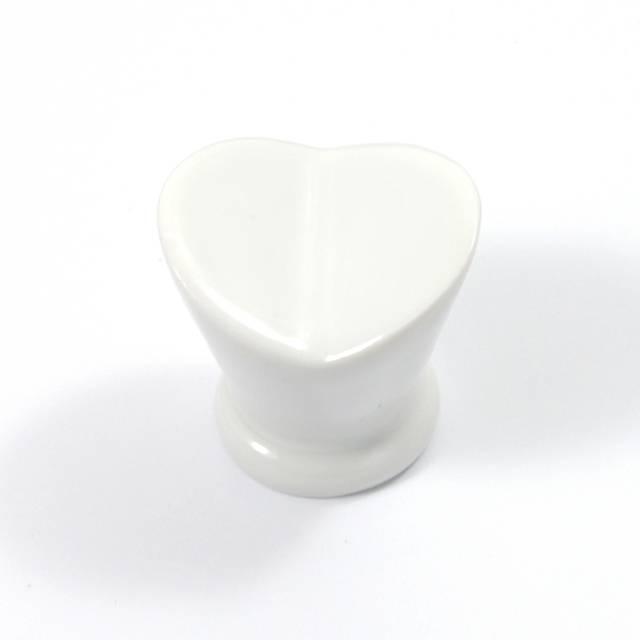 L004 WHITE FURNITURE KNOB LIMOGES