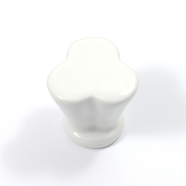 L005 WHITE FURNITURE KNOB LIMOGES