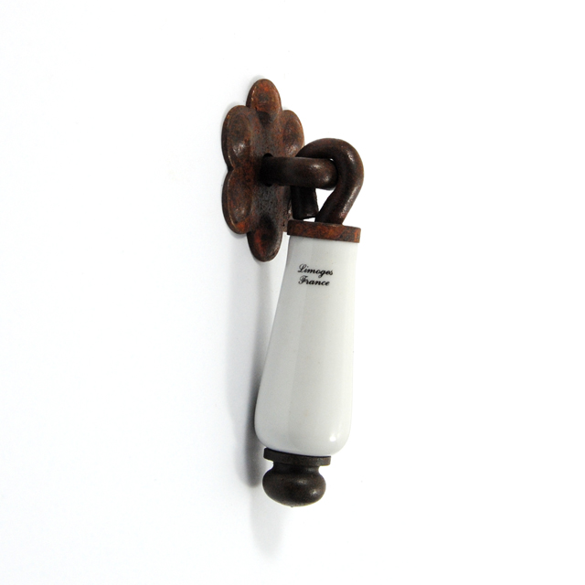 MS023 RUST DROP PENDANT KNOB LIMOGES