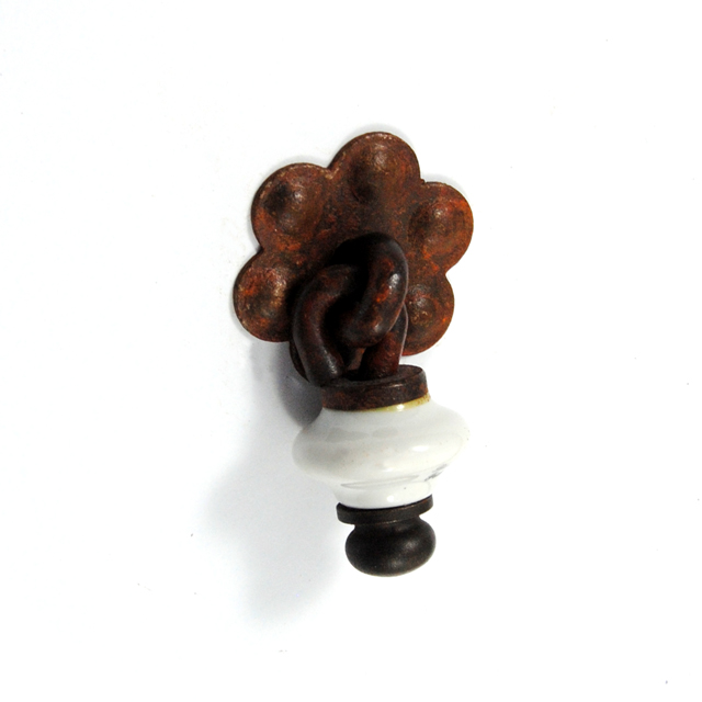 MS024 RUST DROP PENDANT KNOB LIMOGES