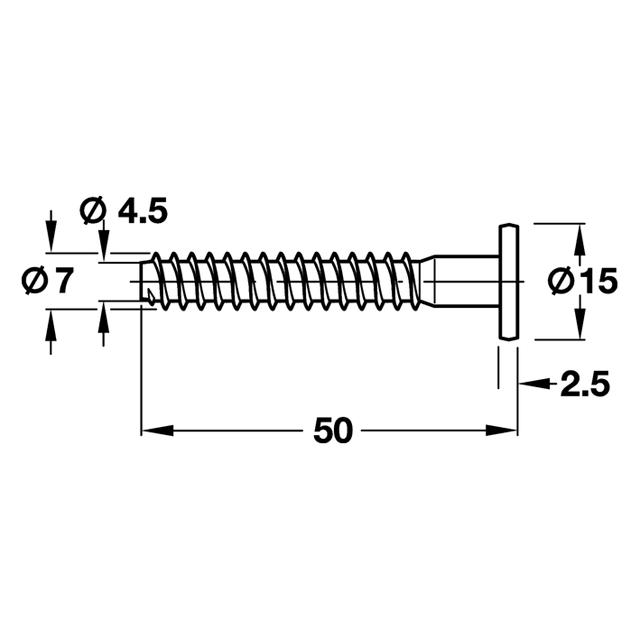 ΒΙΔΑ ΣΥΝΔΕΣΗΣ ΕΠΙΠΛΩΝ ΑΛΛΕΝ ΠΛ. ΚΕΦ. 7,0*50mm BLIST(10)