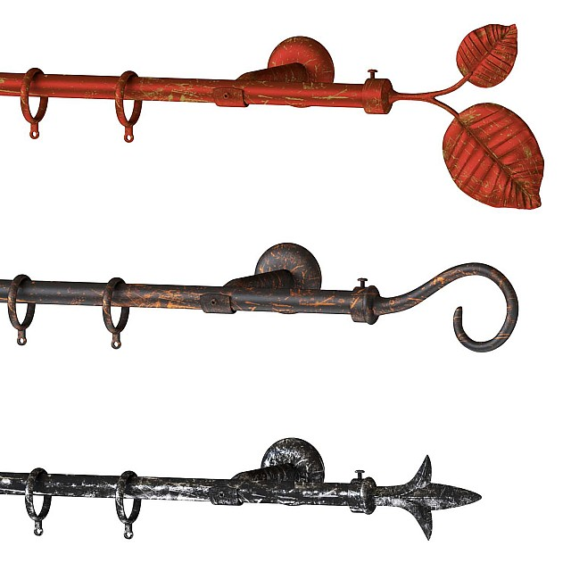 SINGLE METAL CURTAIN ROD SET D.18