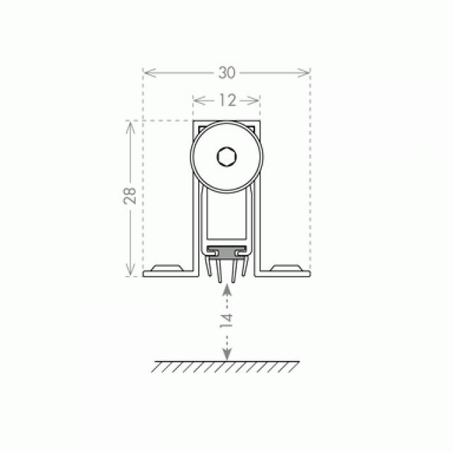 AUTOMATIC BUILT-IN WINDBREAK PANEL 100cm
