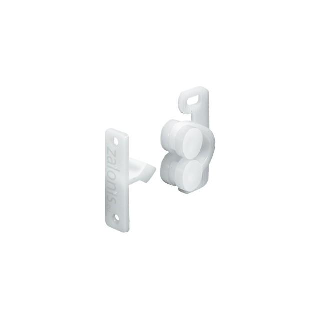 PLASTIC CLOSET ROLLER CATCH / WHITE
