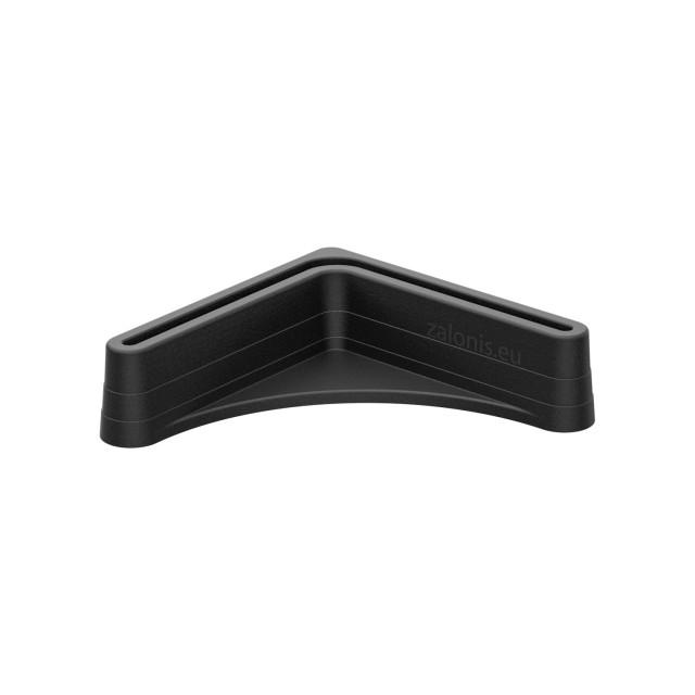 CORNER LEG 35x35 PLASTIC END CAP / BLACK
