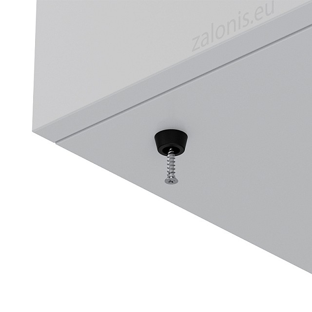 RUBBER FURNITURE PAD D15 H7mm / BLACK