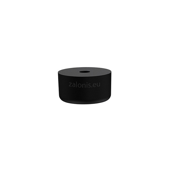 RUBBER FURNITURE PAD D26 H15mm / BLACK