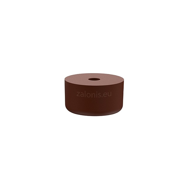 RUBBER FURNITURE PAD D26 H15mm / BROWN