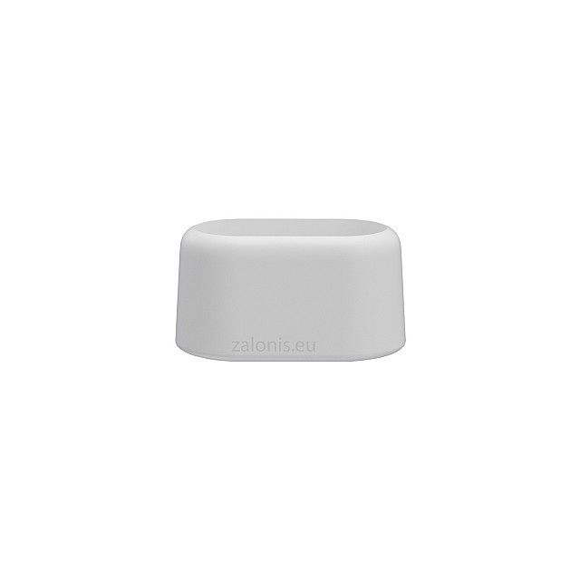 OVAL EXTERNAL LEG CAP PVC / 40x20 / WHITE