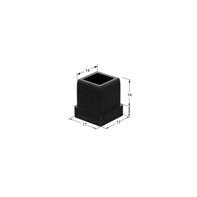 SQUARE TUBE INSERT END CAP / 17x17